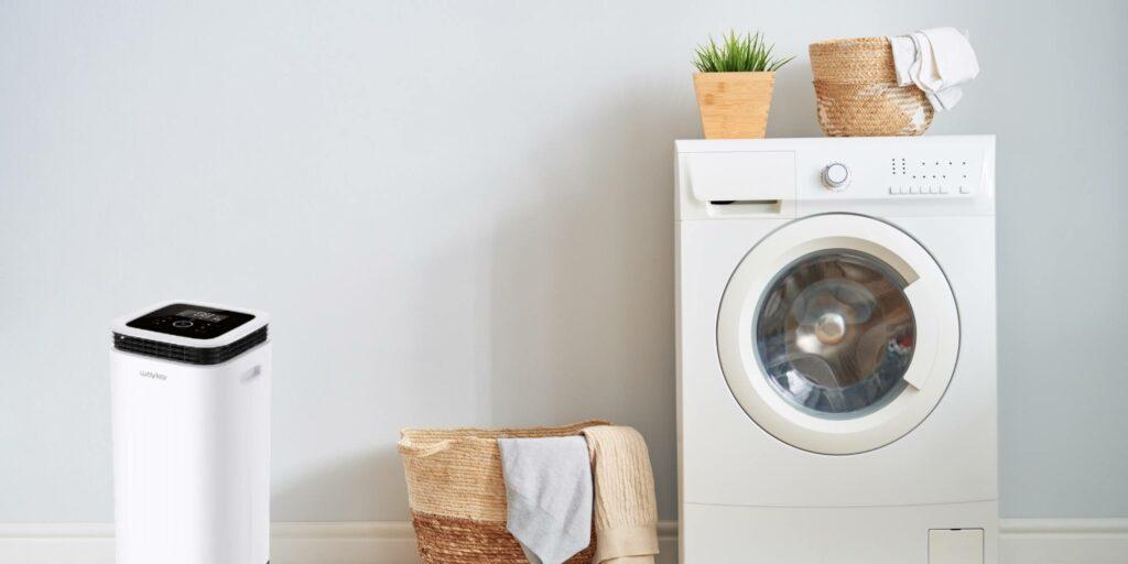 A beautiful laundry room dehumidifier in 2021