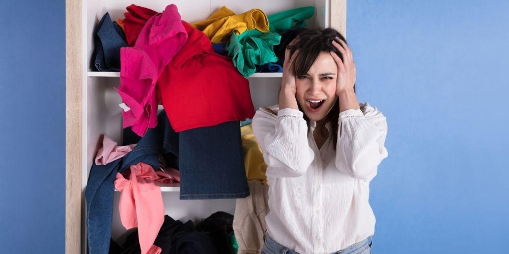A girl near closet